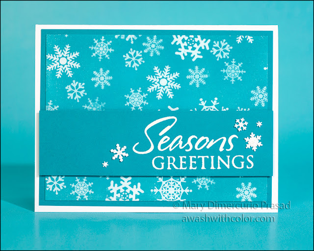 Rubbernecker Stamps Christmas or Holiday Card with Distress Oxide Ink