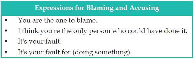Gambar ungkapan contoh dialog Blaming and Accusing