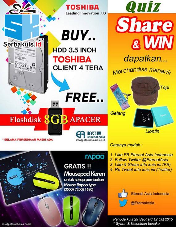 Kuis Share & Win Eternal Asia Berhadiah Merchandise