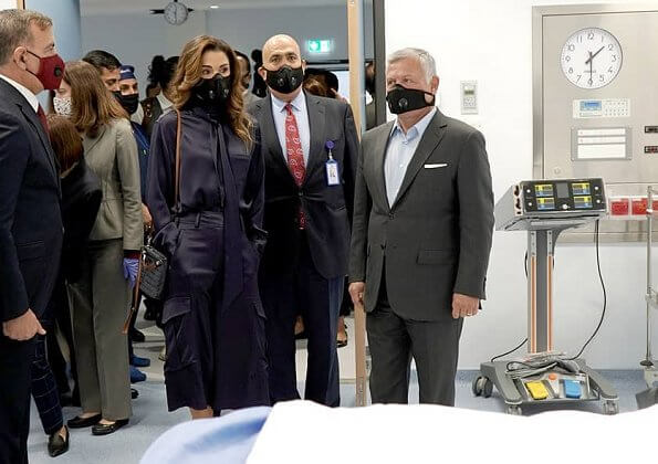King Abdullah II and Queen Rania Al Abdullah opened the new Emergency Hospital affiliated with Al Bashir Public Hospital