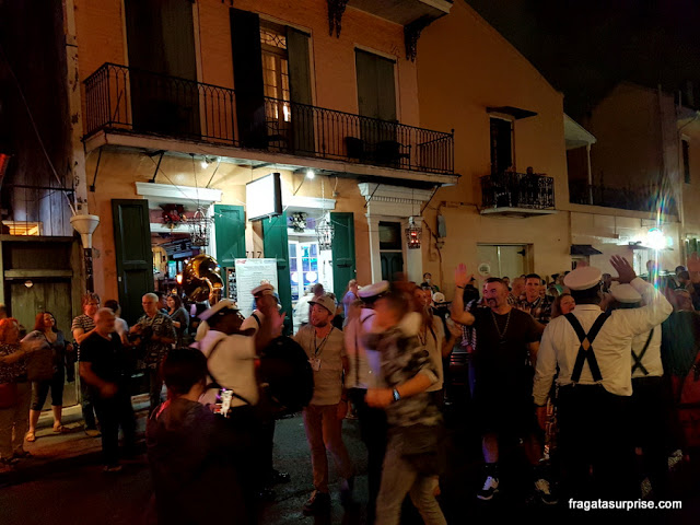 Banda de Jazz no French Quarter, Nova Orleans