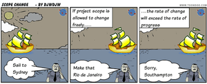 Too Much Project Change is Dangerous