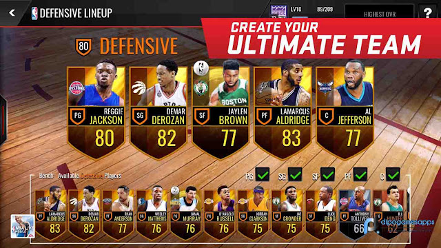 Download NBA Live Mobile MOD APK Unlimited Money/Coins