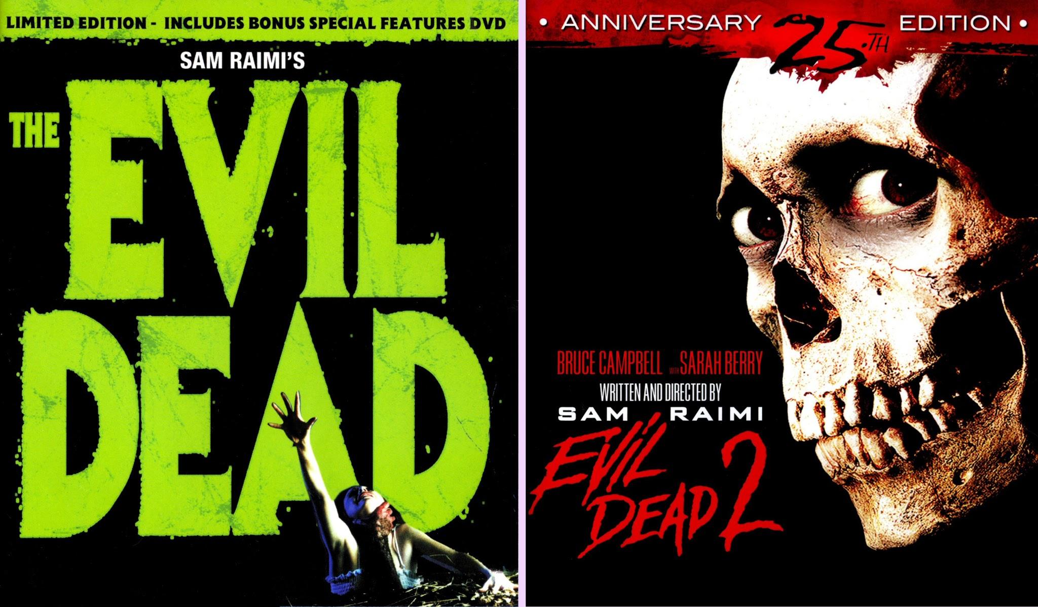 The Definitive Evil Dead 1 and 2 (Laserdisc/ DVD/ Blu-ray/ UHD Comparison)