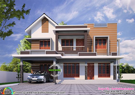 2085 square feet double storied house