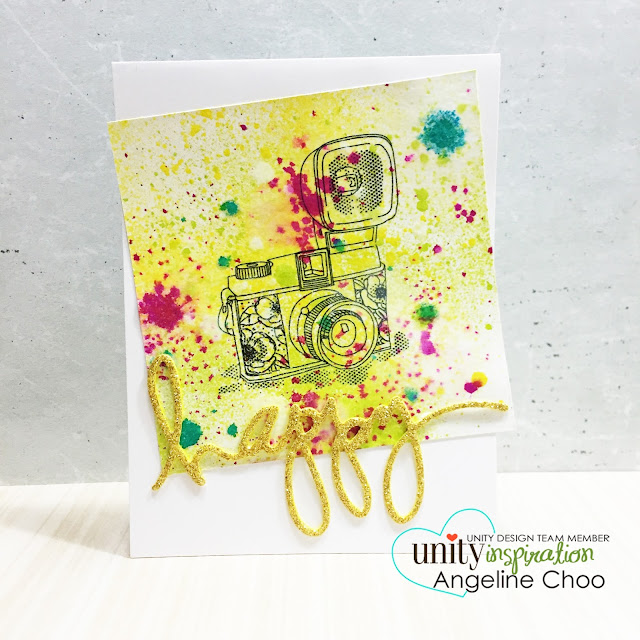 ScrappyScrappy: Easy Messy Ink Splatters with Dylusions [NEW VIDEO] #scrappyscrappy #unitystampco #stamp #stamping #card #cardmaking #dylusion #inkspray #mixedmedia #heidiswapp