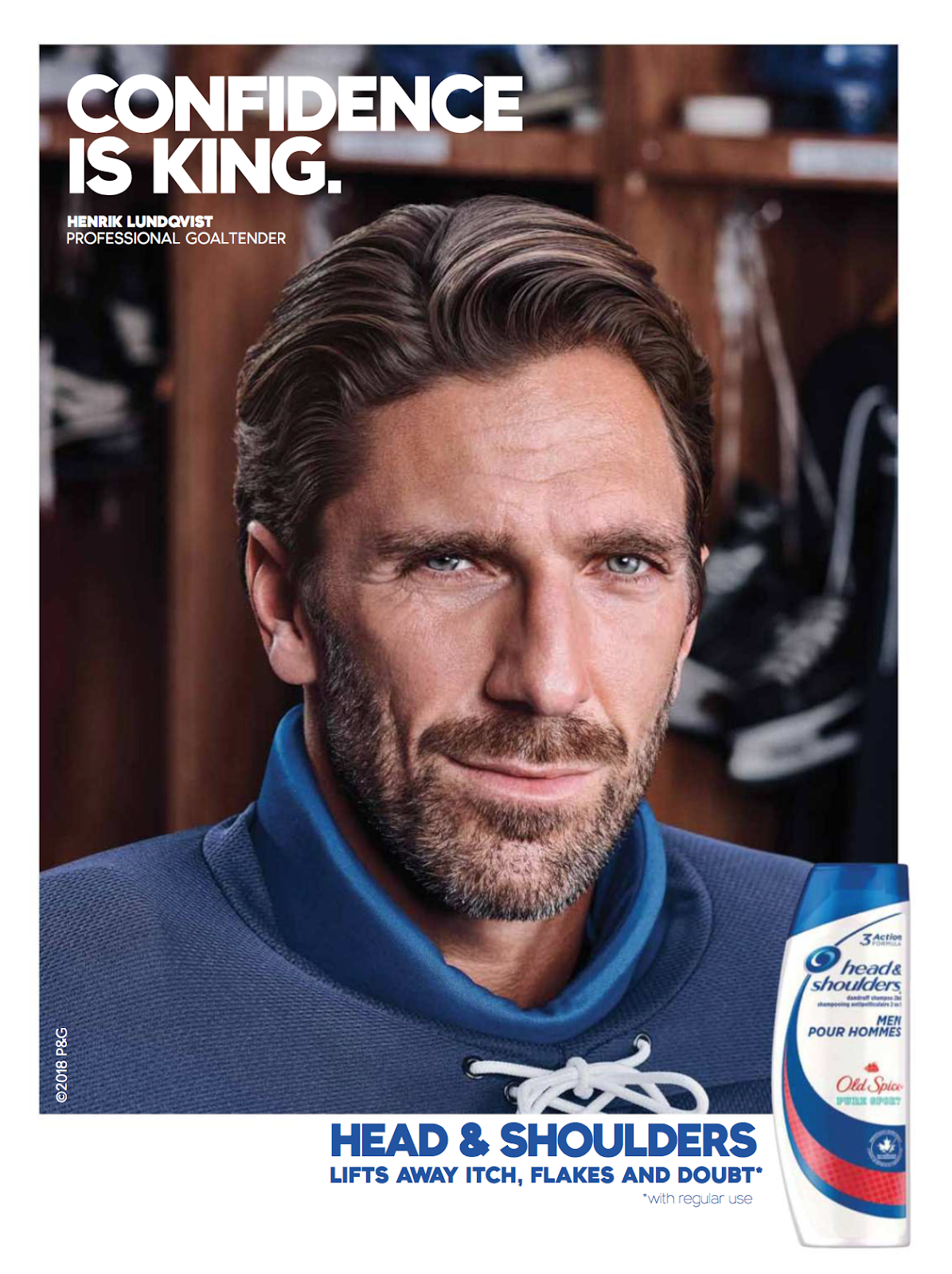 The Henrik Lundqvist Blog New Henrik Lundqvist Head Shoulders Ad