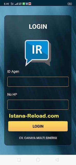 cara login IR Mobile Topup Apk Istana Reload