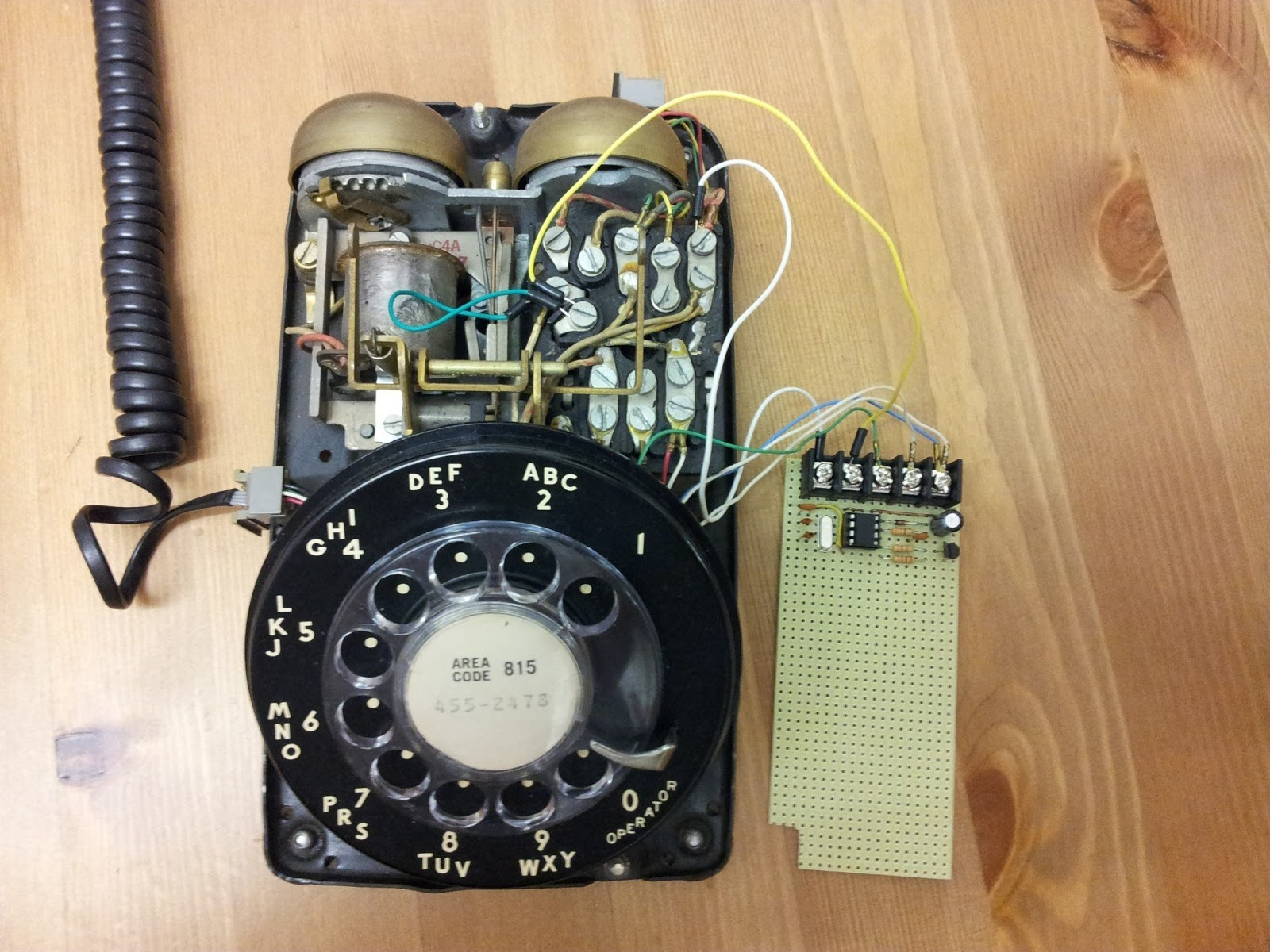 Updating Your Rotary Dial Phone For The Digital Age Dmc Inc Best Telephone Ringing Circuits An Error Occurred