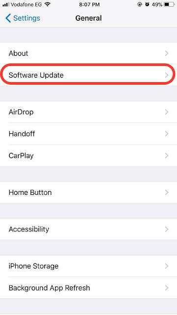 كيفية التحديث الى iOS 11.0.1