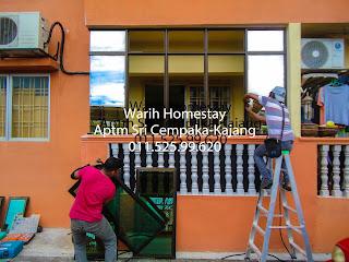 Warih-Homestay-ASC-Cermin-Tinted-Separuh-Siap