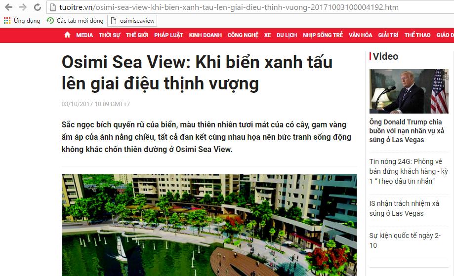 Báo Tuổi Trẻ nói gì về căn hộ Osimi Sea View