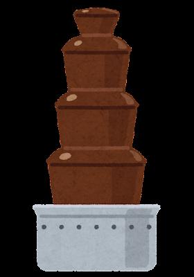 チョコレートファウンテンのイラスト