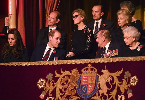 British Royals attend the Festival of Remembrance 2016 ...