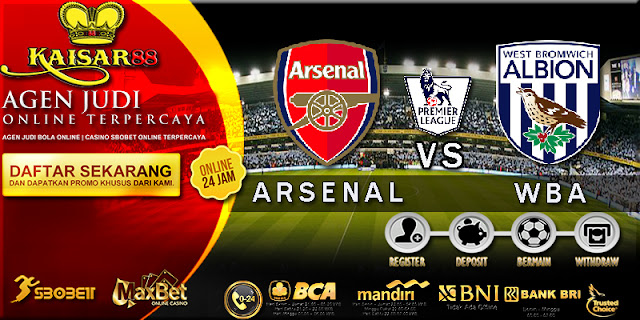 PREDIKSI TEBAK SKOR JITU LIGA ENGLAND PREMIER LEAGUE ARSENAL VS WEST BROMWICH ALBION 26 SEPTEMBER 2017
