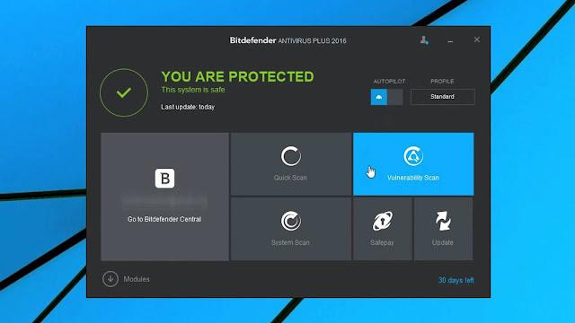 Bit Defender Antivirus 2016  Free Download For Pc