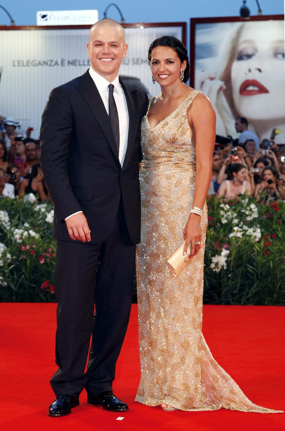 HOLLYWOOD ALL STARS: Matt Damon and his Wife Pictures