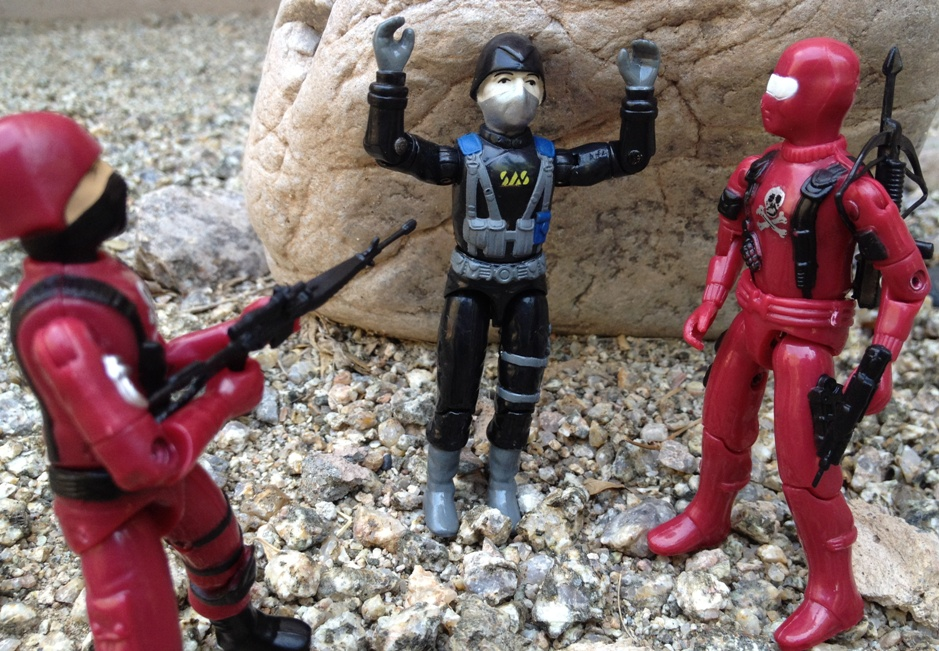 Action Force Hunter, Palitoy, Cobra Officer, European Exclusive, Bootleg Red Shadows Invasor, Red Shadow Trooper, Bootleg, Custom, Black Major