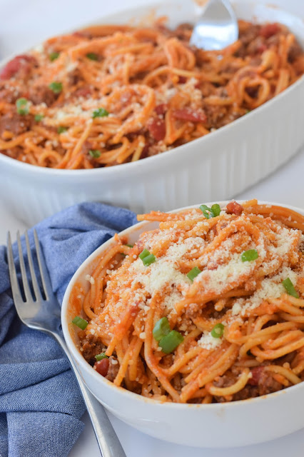 This Instant Pot Spaghetti is an easy meal to make for family dinner
