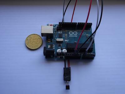 Fig. 1 - LM35 e Arduino UNO R3 -  foto di Paolo Luongo
