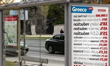 ΑΠΙΣΤΕΥΤΟ - Δείτε τι γράφουν σε στάση λεωφορείων στο ΛΟΝΔΙΝΟ για την ΕΛΛΑΔΑ... [photo]