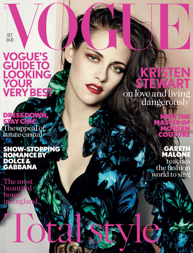 Kristen Stewart Vogue UK October 2012 Gucci