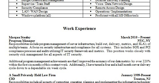 Senior Program Manager Resume Latest Template In Word Format Free Download
