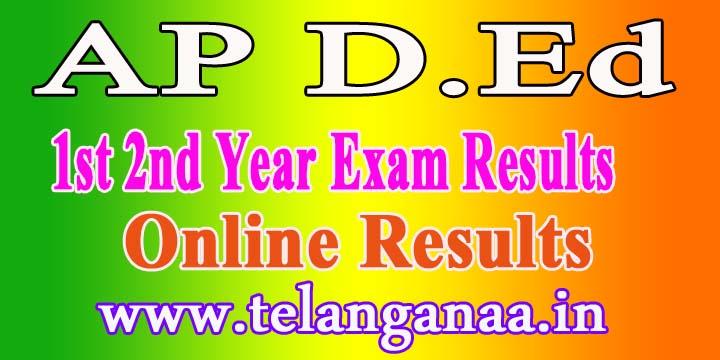 Andhra Pradesh AP D.Ed 1st 2nd Year Result 2016 Online