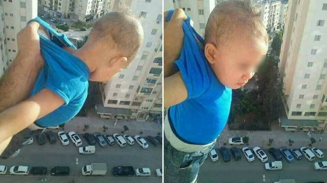 Dad jailed for holding son out window in Facebook post: '1,000 likes or I will drop him'