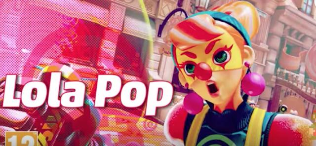 ARMS presenta a su nueva luchadora Lola Pop, puños, escenario y nueva Testfire