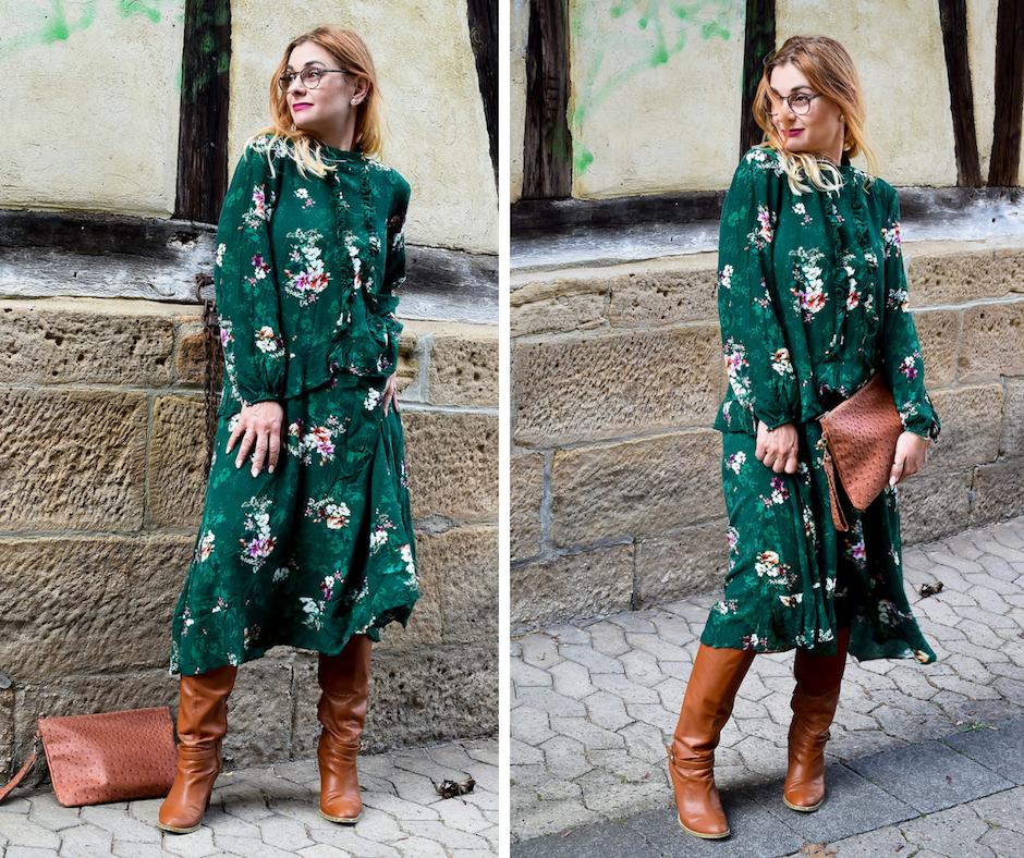Grünes Kleid für Frauen, Maxidress in Grün