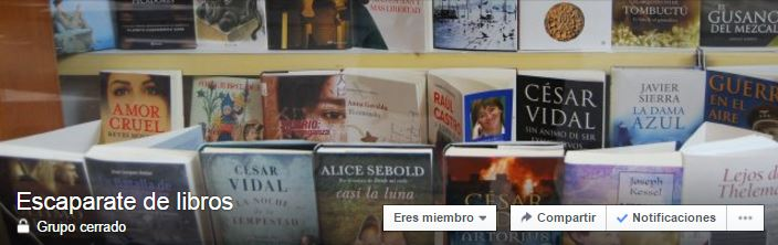 GRUPO DE FACEBOOK-ESCAPARATE DE LIBROS