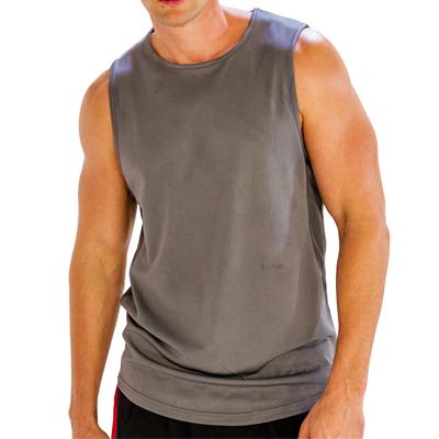 Grey Sleeveless Fitness T-Shirt