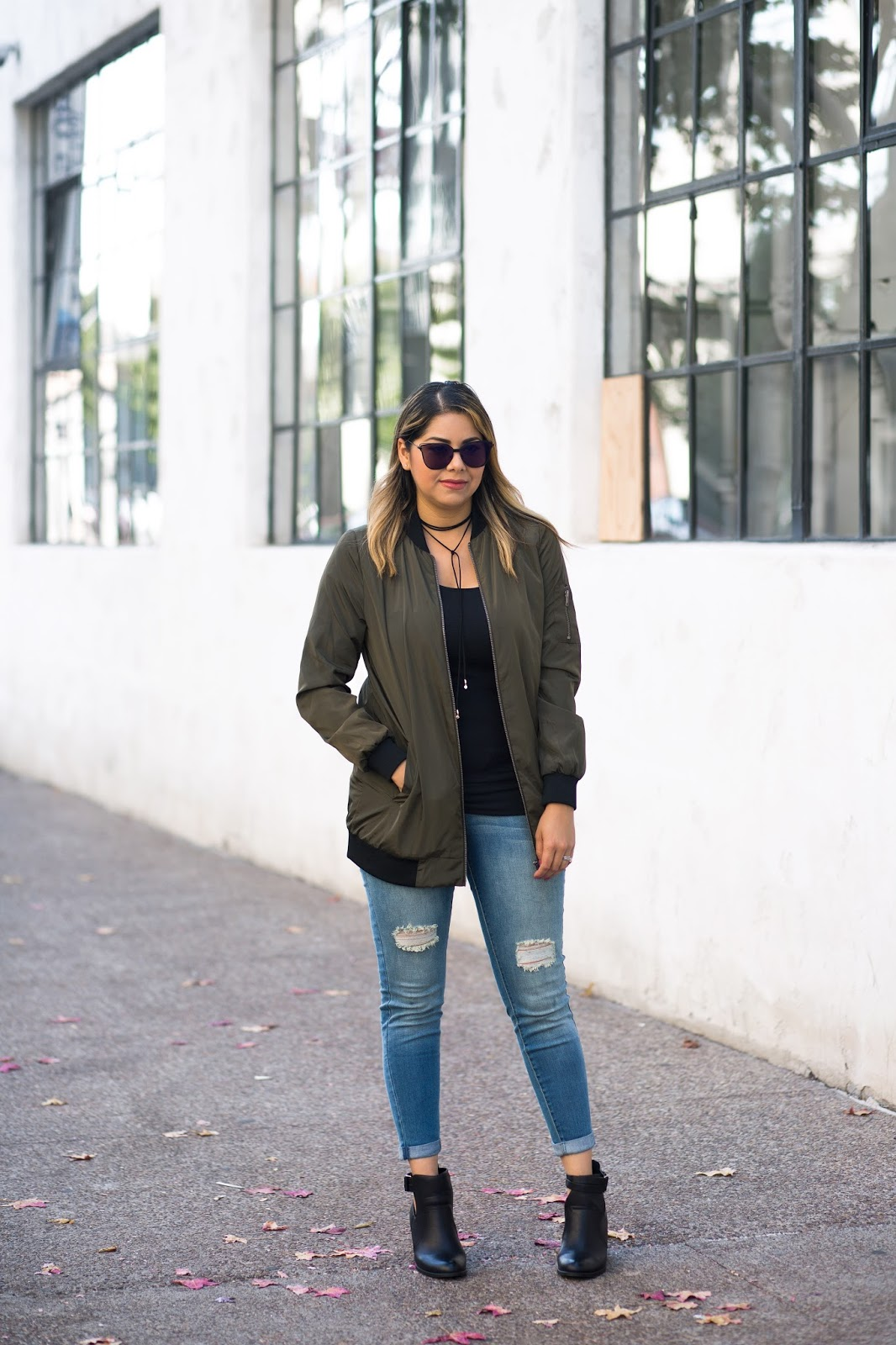 Bomber Jacket Outfit, A'GACI blogger, San Diego Fashion Blogger
