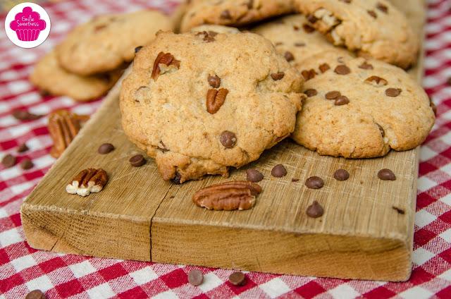 Cookies aux pépites de chocolat et noix de pécan - recette américaine