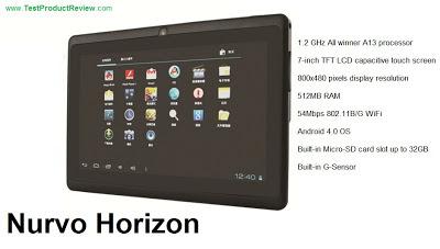 Nurvo Horizon cheap 7-inch Android tablet