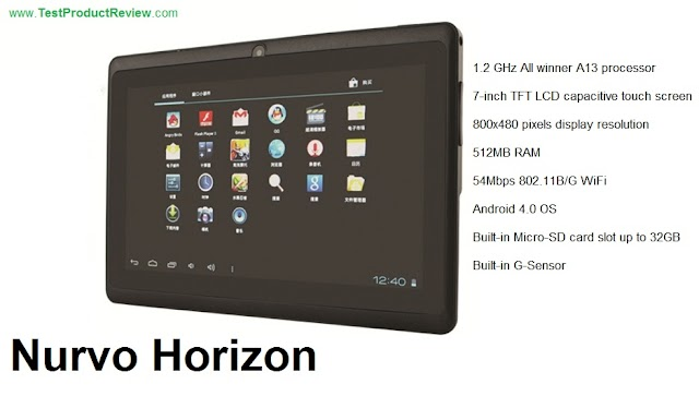 Nurvo Horizon cheap 7-inch Android tablet