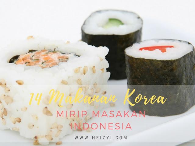 Makanan Korea yang Mirip Masakan Indonesia