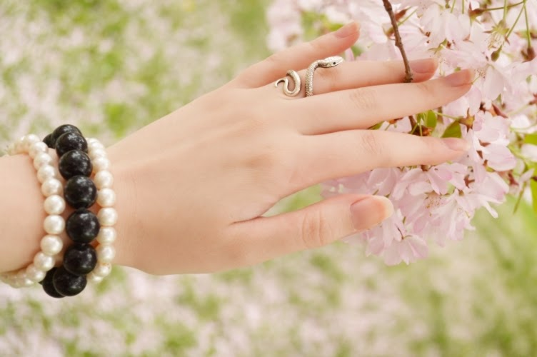 sakura, pink, dress, pastel romantic, flapper, 1920s, manicure, nails
