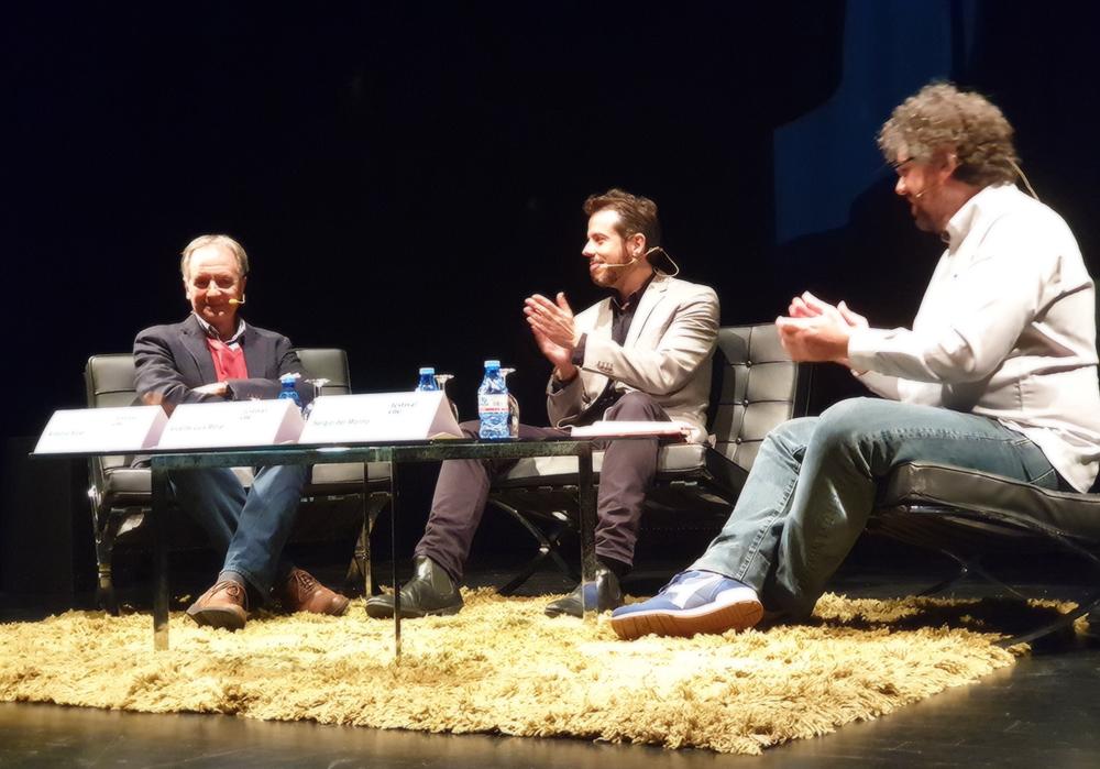 Antonio Soler, Vicente Luis Mora y Sergio del Molino en el Festival Eñe de Málaga