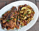 Baked Chicken with Herb-Roasted Potatoes