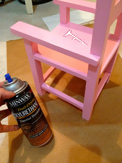 spray poly to seal chair