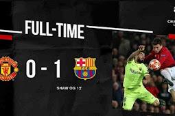 Video Cuplikan Gol Manchester United vs Barcelona 0-1