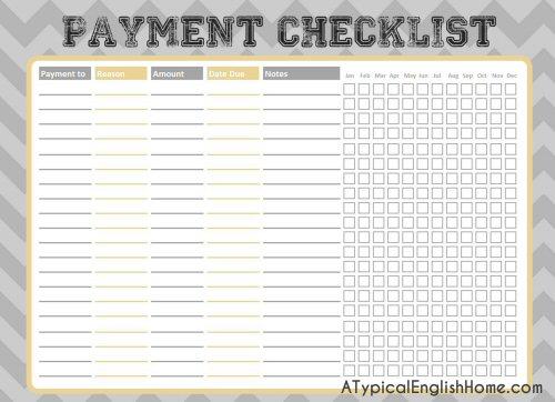 budget list for bills selo l ink co