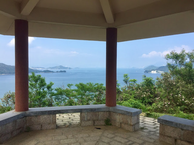 Ocean views from the pavilion on the Lantau Trail from Mui Wo to Pui O, Hong Kong