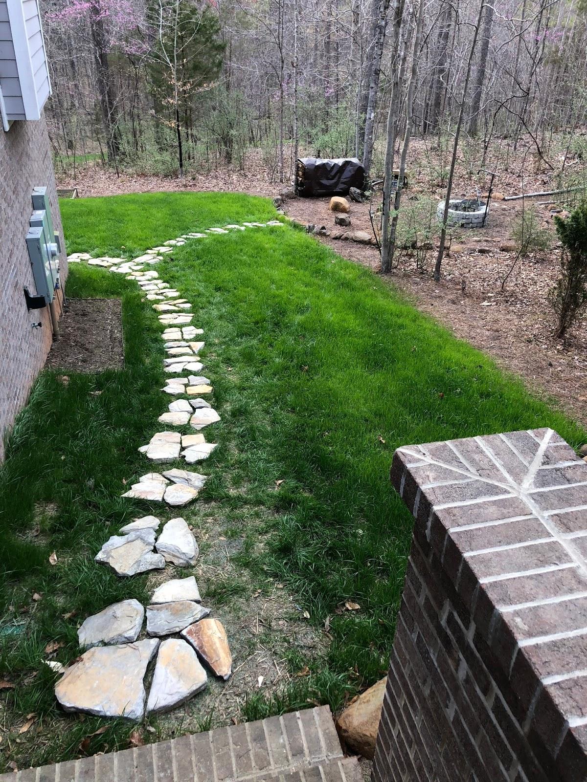 price creek diy backyard stone walkway layout