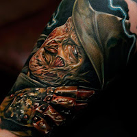 tatuaje para halloween freddy krueger carne viva