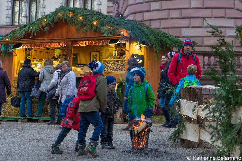 Kids Playing Thurn and Taxis European Christmas Markets Danube River