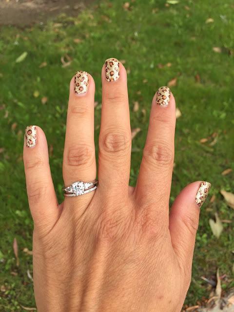 leopard nail polish