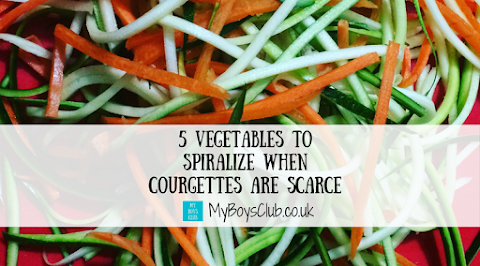 5 Vegetables to Spiralize when Courgettes are scarce